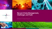 Research Data Management, Challenges and Tools - Per Öster