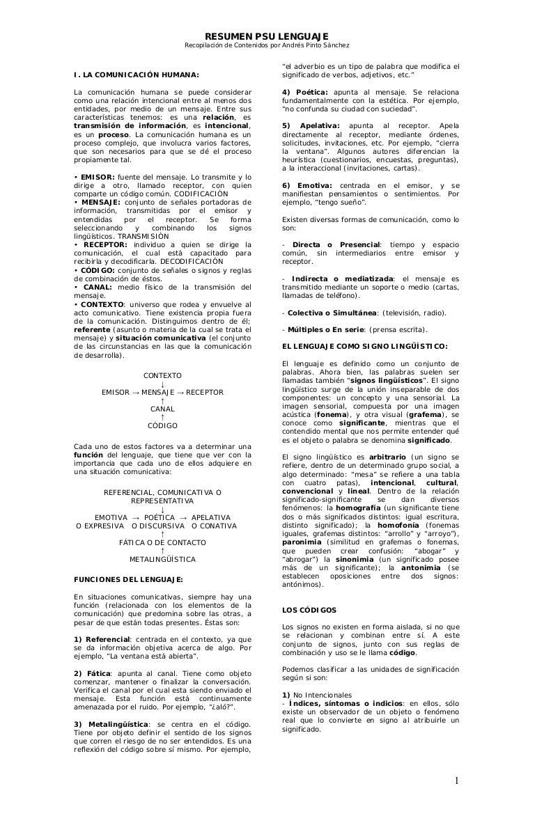 Psu resumen-lenguaje1 a 4 medio