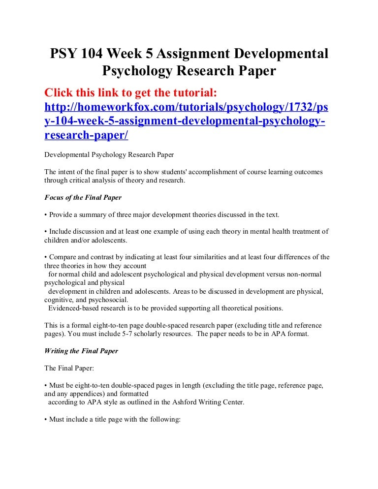 Custom psychology term paper