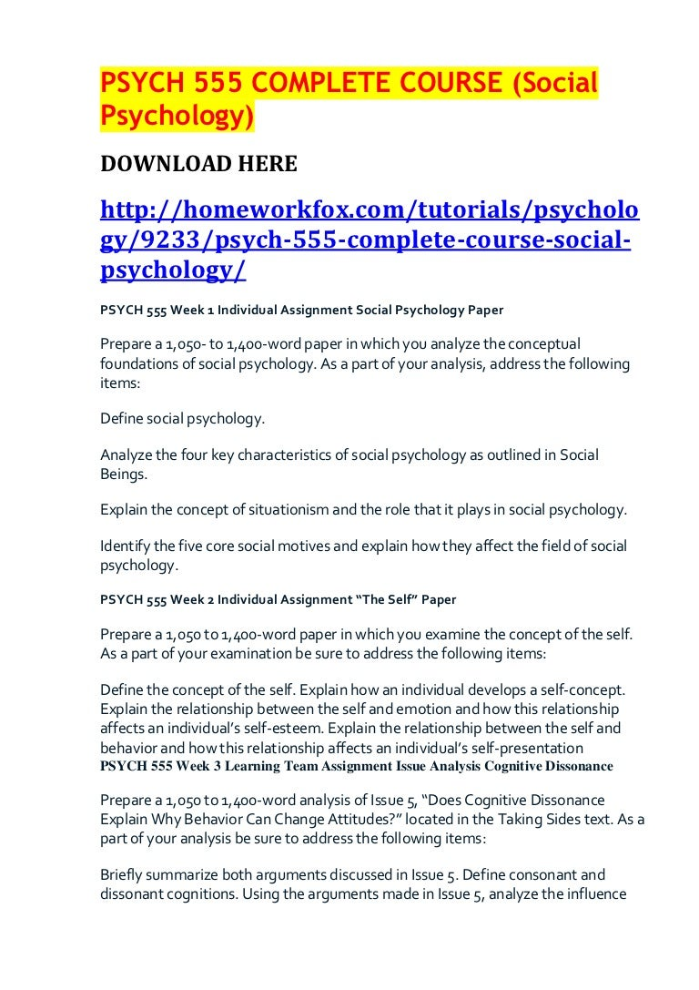 psych complete course social psychology
