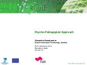 Psycho pedagogical approach