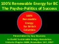100% Renewable Energy for BC: The Psycho-Politics of Success