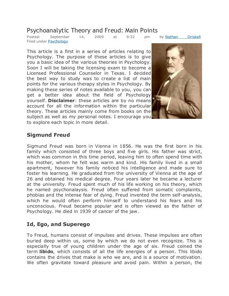 psychoanalytic theory according to freud and adler For freud the result was a renewed commitment to orthodox oedipal theory, while for jung the result was his typology of individual differences that allowed him to validate different analytic approached, encompassing freud's, adler's, and jung's own of sexual and aggressive feelings as they intersect with symbols of a collective unconscious.