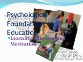 Psychological foundations of education