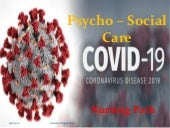 Psychosocial care of coronavirus disease 2019