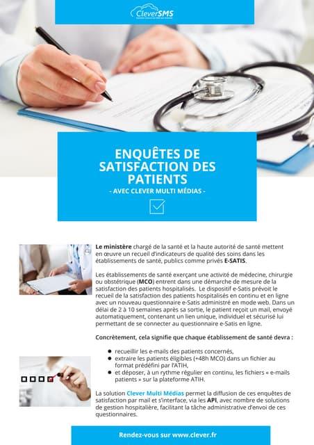 Enquetes de satisfaction de patients