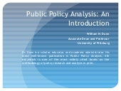 Public policy analysis_dunn