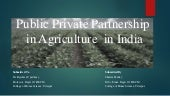 Public private partnership in agriculture in india