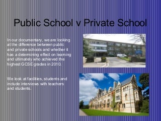 Public school v private school