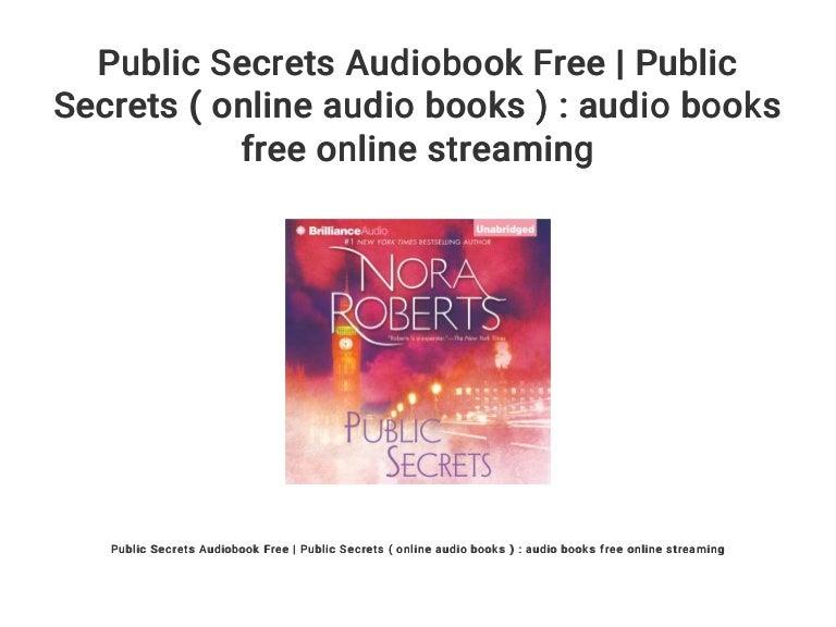 Public secrets by nora roberts bookbub.