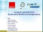 Public session: Lessons learned from successful medtech entrepreneurs - CRAASH Barcelona 2018