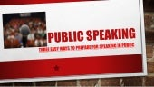 Public speaking - How to become good at it
