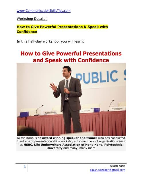 Public speaking training course improve presentation skills
