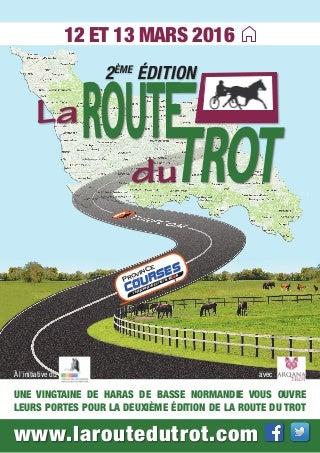 Affiche Route du Trot 2016