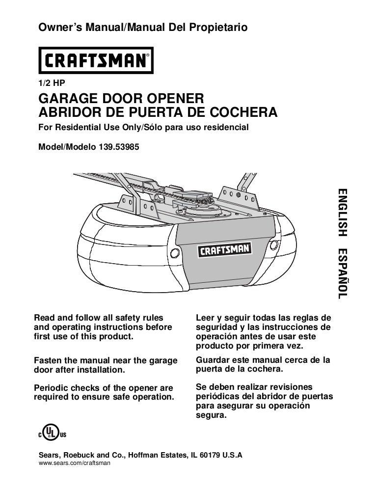 puerta grafstman rh slideshare net Craftsman Garage Door Opener Programming Craftsman Garage Door Opener Programming