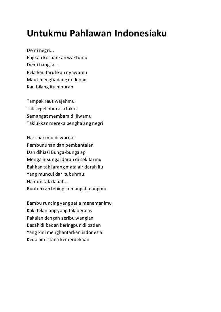 Contoh Puisi Kemerdekaan Singkat Brad Erva Doce Info