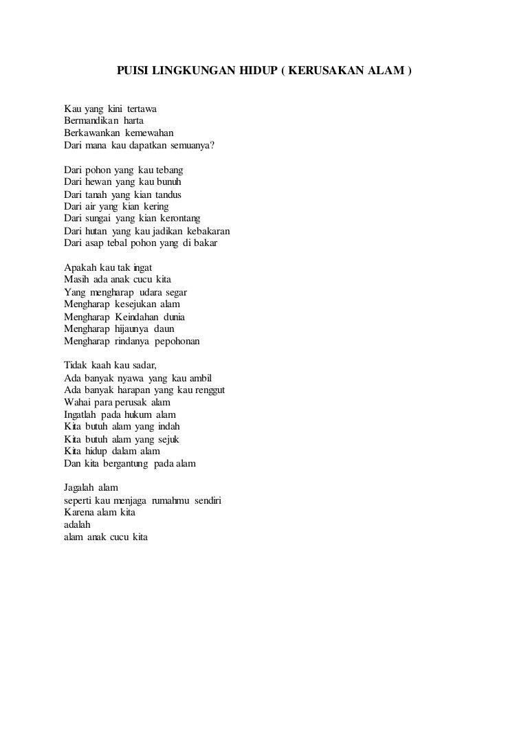 Puisi Alam Yang Indah