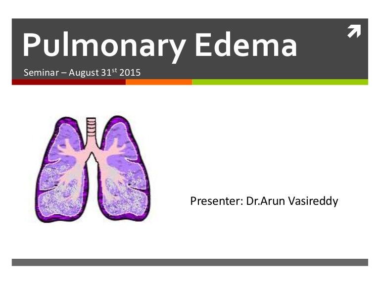 Pulmonary Oedema Pathophysiology Approach Management
