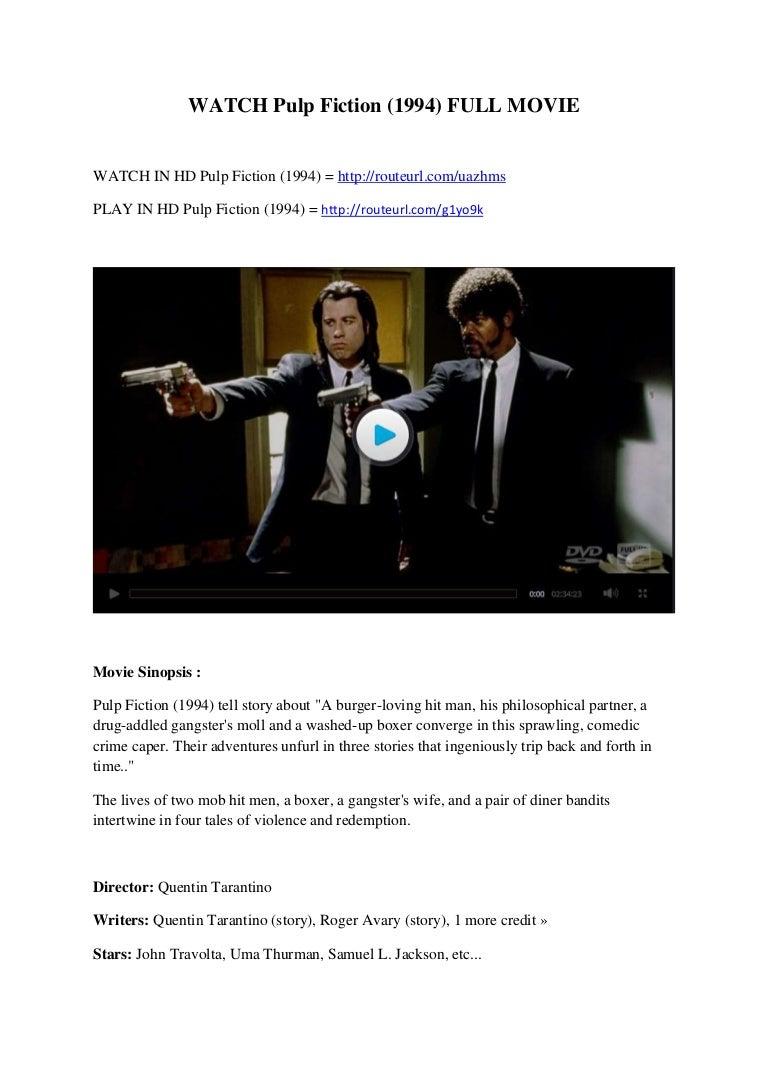 Watch Pulp Fiction 1994