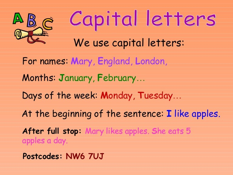 Change From Small To Capital Letters
