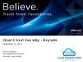 Cloud Foundry Open Tour India 2012 , Keynote