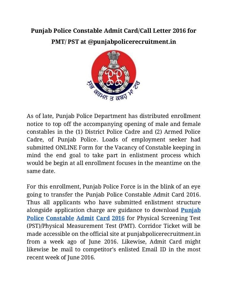 punjabpolice.gov.in admit card