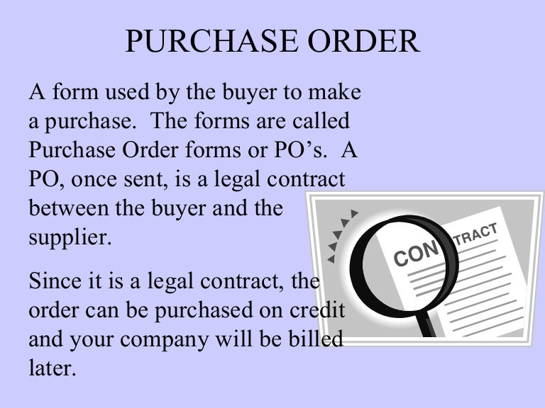 Purchase order invoices – Is a Purchase Order a Legal Document
