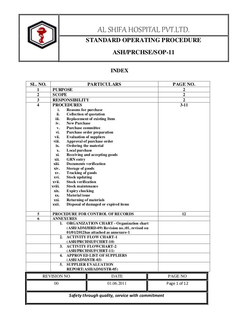 Sop Templates Pdf General Sop Format For It Sop Format Standard