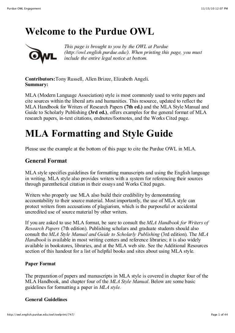 mla research paper header