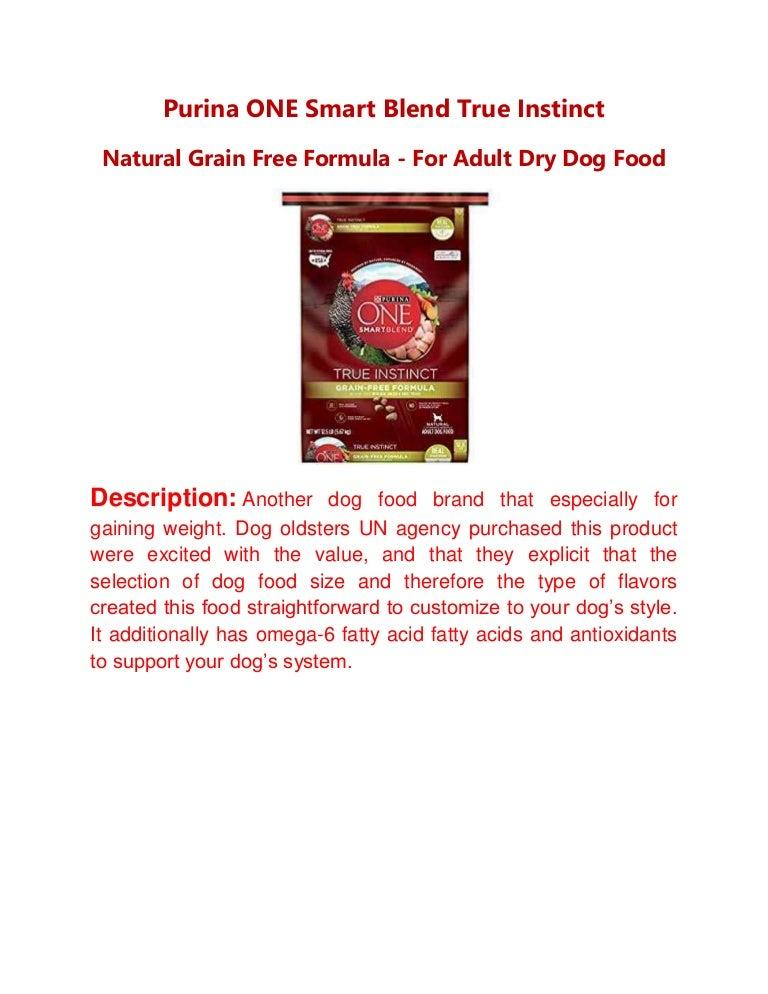 Purina One Smart Blend True Instinct Natural Grain Free Formula For
