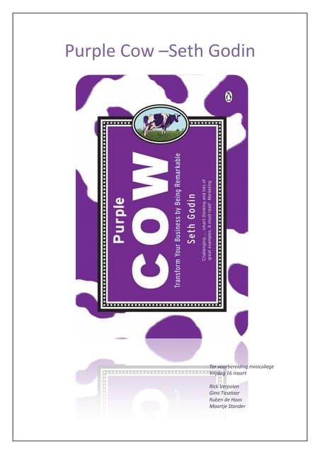Boekbespreking: Purple cow