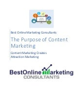 Content Marketing - Its Purposes