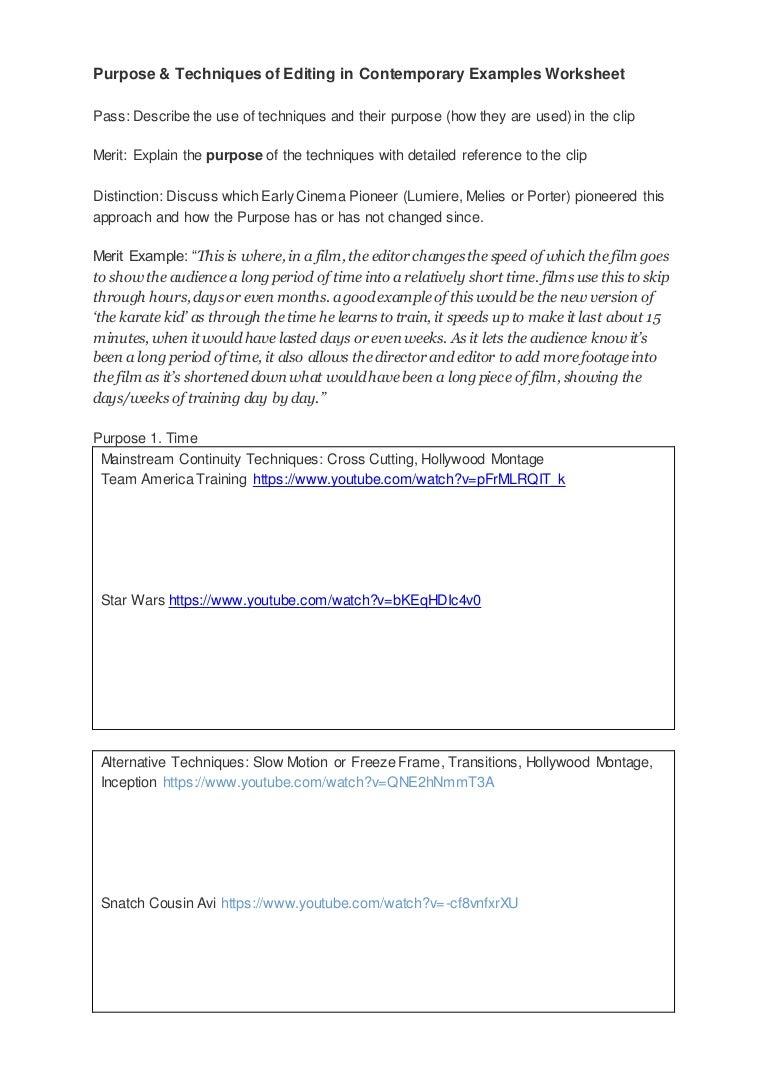 Unit 9 A4 Purpose Worksheet – Frame of Reference Worksheet