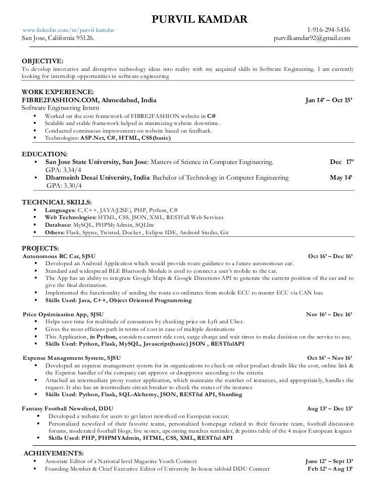 Purvil kamdar resume_2017