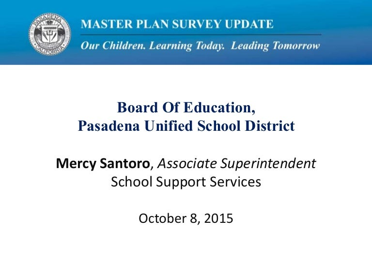 pusd master plan survey update 1082015