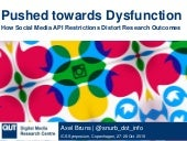 Pushed towards Dysfunction: How Social Media API Restrictions Distort Research Outcomes