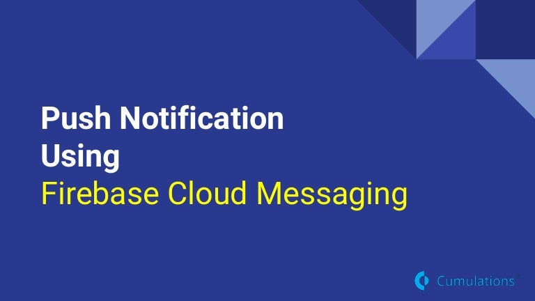 Push Notification for Android, iOS & Sever Side Using