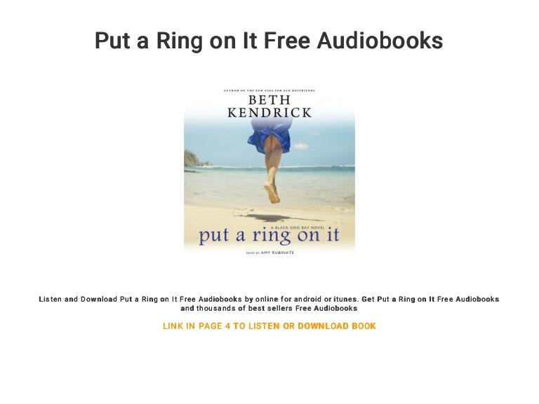 Put A Ring On It Free Audiobooks