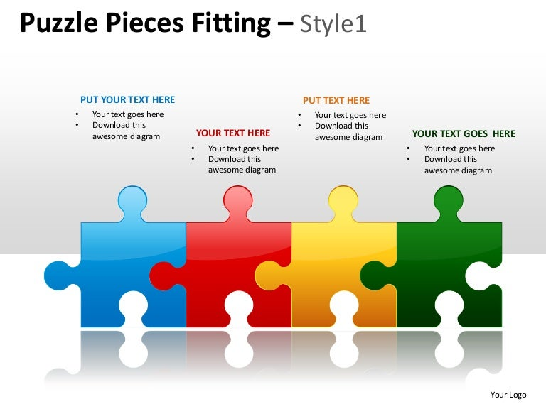 Puzzle Pieces Fitting Style 1 Powerpoint Presentation Templates
