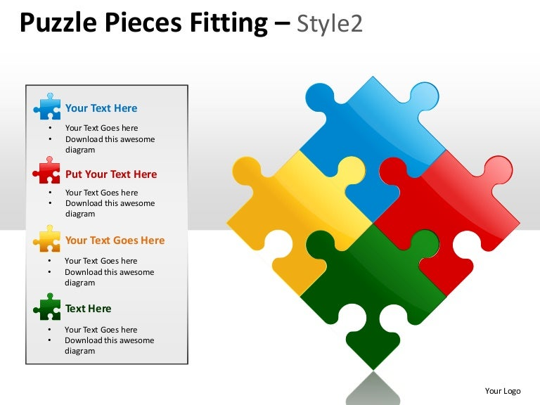 Puzzle pieces fitting style 2 powerpoint presentation templates toneelgroepblik Gallery