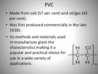 Pvc material for construction