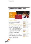 "Synthèse de l'étude PwC ""Cities of Opportunity"" (2014)"