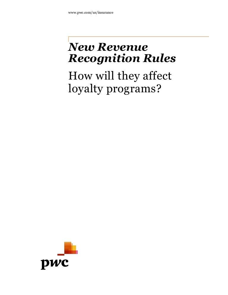 PwC Loyalty Programs - Revenue Recognition