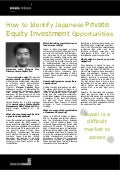 How to Identify Japanese Private Equity Investment Opportunities