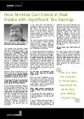 How Families Can Invest in Real Estate with Significant Tax Savings - Gene King, Sequence Financial Specialists LLC
