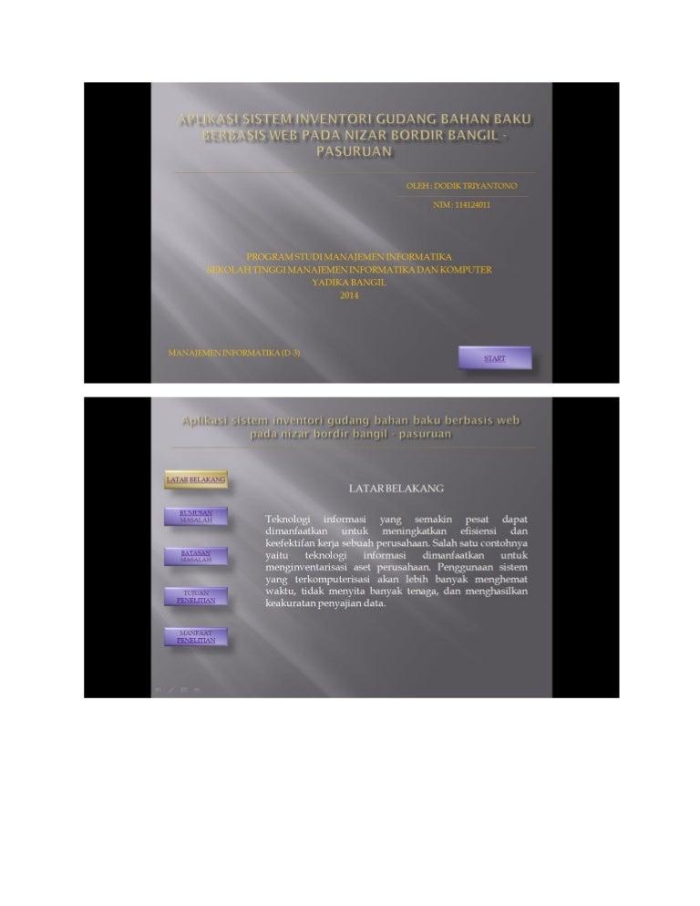 Aplikasi Perkantoean Presentasi Tugas Akhir
