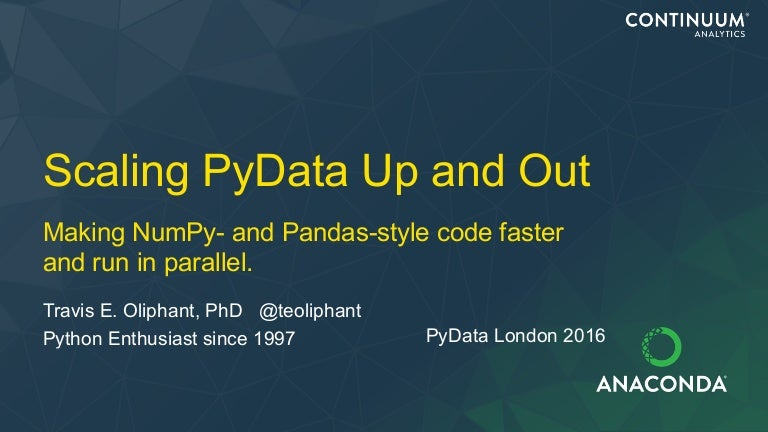 Scaling PyData Up and Out