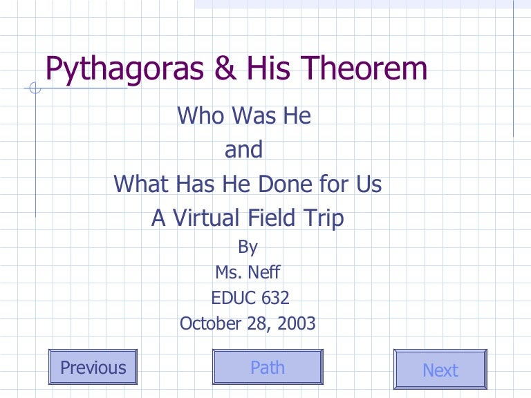 Pythagorean Theorem Vft