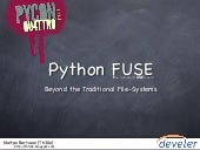 Python Fuse