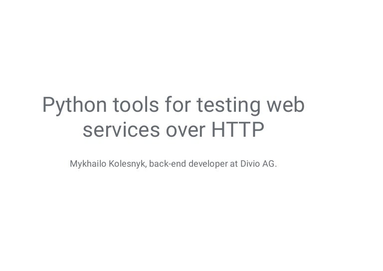 python web services framework